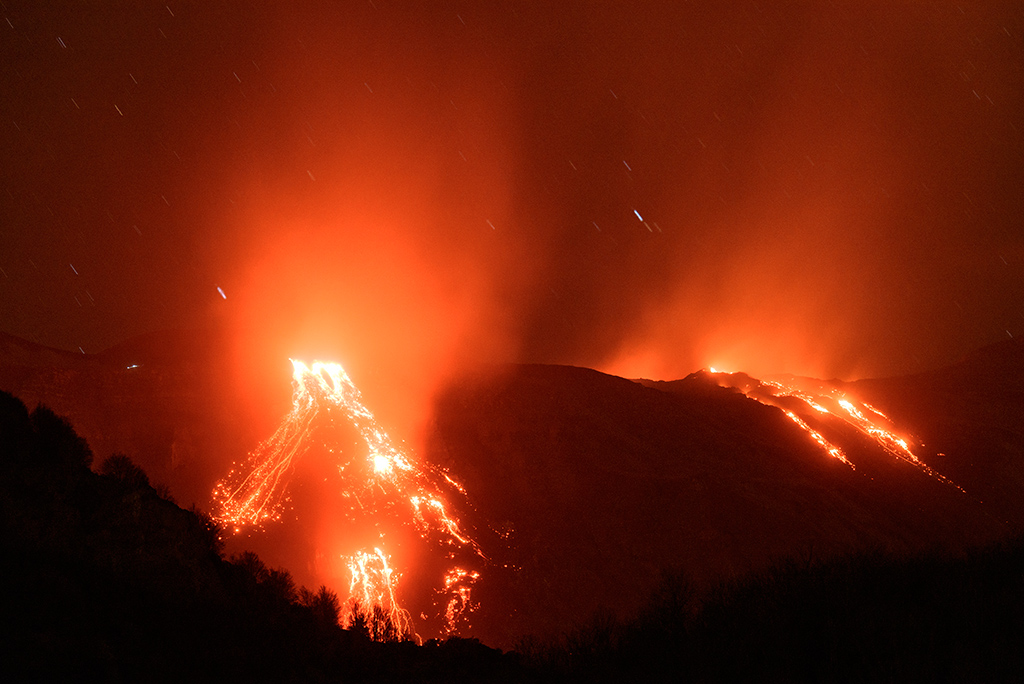 Eruption - Mt. Etna Volcano, Sicily, Italy