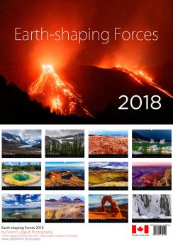 Earth-shaping Forces 2018. A4 format, twelve pages wall calendar.