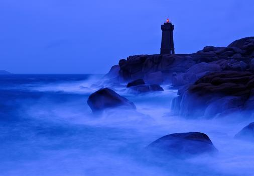 The lighthouse at Ploumanach on the Cote de Granite Rose